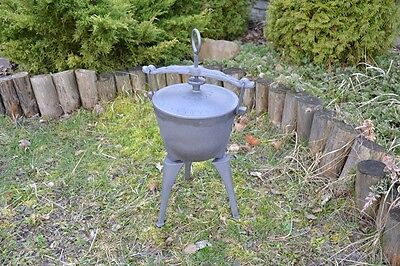 5l (small) HEAVY DUTY DUTCH OVEN CAST IRON COOKWARE CAMPING FIRE COOKING KZ001
