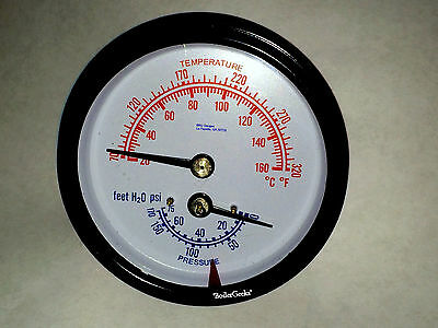 "LOT of 50 Tridicator BOILER Gauges 2.95"" long / 1/4"" NPT/ 6 hour shipping!"