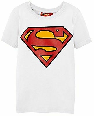 Superman T-Shirt Enfant Blanc FR : 12 ans Taille Fabricant : 12A [FR : NEUF