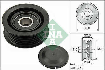MERCEDES Auxiliary Belt Idler Pulley 532016010 Deflection INA 0002020019 New
