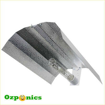 Hydroponics Aluminum Wing Reflector Cfl Hps Mh Grow Light 390 X 500Mm