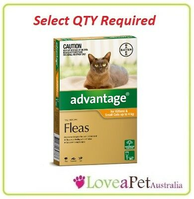 Advantage Flea Treatment For Kittens and SMALL Cats up to 4kg