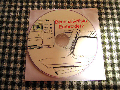 BERNINA Artista Embroidery Instruction DVD 165,170,180