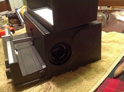 Vintage Sawyerslide Projector 550A With 2 Round Trays And 1 Straight Tray