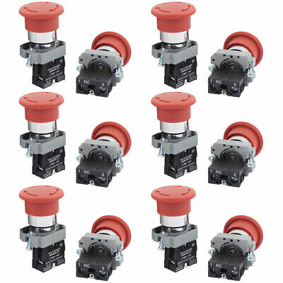 AC 415V 10A Momentary NC Pushbutton Rotary Switch Contact Block 6PCS