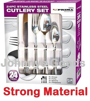 24 Piece Stylish Kitchen Stainless Steel Cutlery Set Tableware Dining Utensils