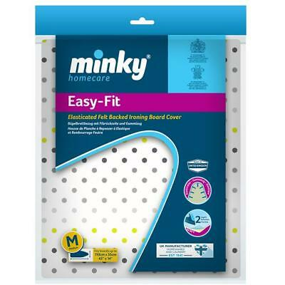 Minky Easy Fit Elasticated Ironing Board Cover 110cm x 35cm Sequins Design