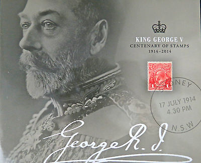 Australian Stamps: *Sale* King George V Centenary of Stamps Booklet 1914-2014
