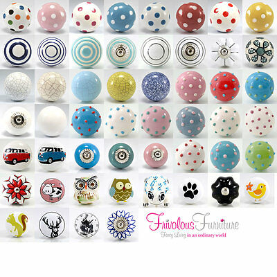Ceramic Door Knobs Cabinet Drawer Cupboard Locker Kitchen Furniture Pull Handle