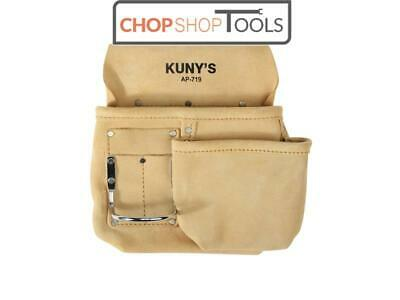 Kuny's Journeyman Half Apron tool pouch with hammer loop leather KUNAP719