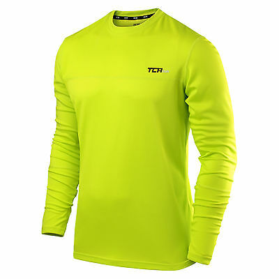 TCA Long Sleeved Running Top, Hi Vis Yellow, S – XXL Sizes Available
