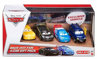 Disney Cars Cast 1:55 - Gift Pack Race Day Fan - 4
