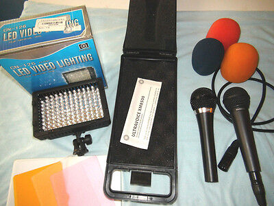 Professional Microphone set + Led video light