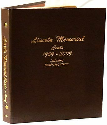 Dansco Coin Album 8102 Lincoln Memorial Cents 1959-2009 with Proofs