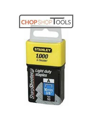 Stanley TRA2 Light-Duty Staple 10mm TRA206T Stapler Pack 1000 0-TRA206T