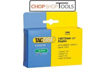 Tacwise TAC0348 140 Heavy-Duty Staples 12mm (Type T50, G) Pack 2000