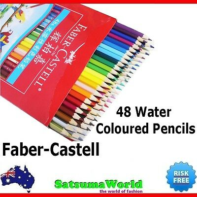 Faber Castell 48 Water Coloured Pencils set home school stationery student art