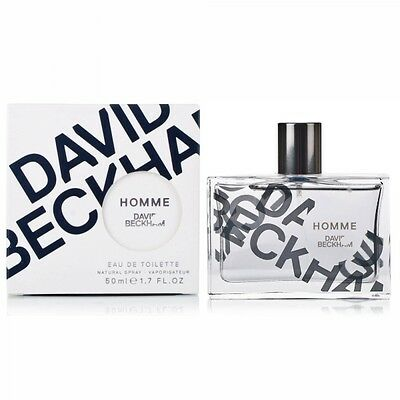 David Beckham Homme 50Ml Eau De Toilette Spray Brand New & Sealed *