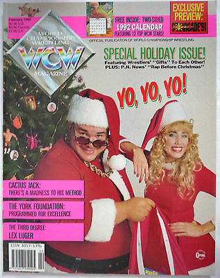 Wcw Magazine Febuary 1992/ Issue #4 / Doublesided 1992 Calendar Poster