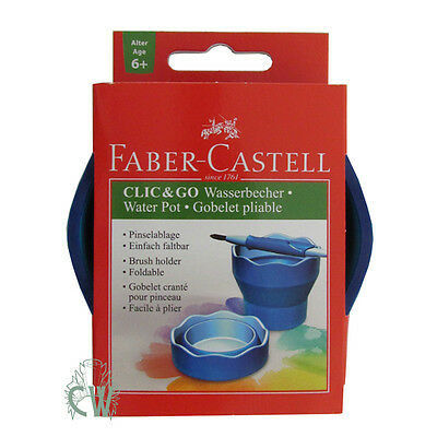 Faber Castell Click & Go Water Pot and Brush Holder. Artists Portable Water Cup.