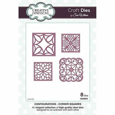 Craft Dies by Sue Wilson - Configurations Collection - Corner Squares (CED6501)