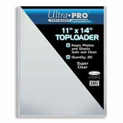"""Pack of 20 Magazine Print Size Toploaders 11"""" x 14"""" Clear Holder UltraPro NEW"""