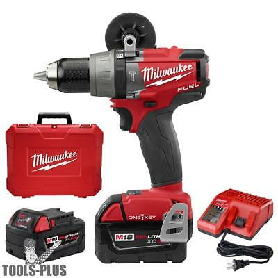 "Milwaukee M18 FUEL 1/2"" Hammer Drill/Driver with ONE-KEY Kit 2706-22 New"