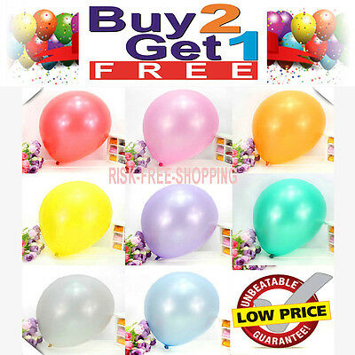 20 x Balloons Large Baloons Pearlised Helium Birthday Party Wedding Christening