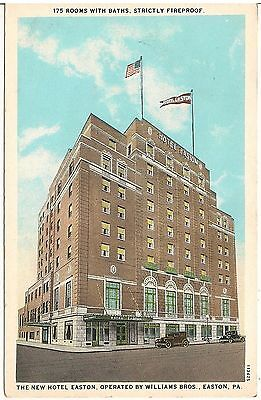New Hotel Easton In Pa Postcard