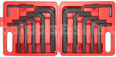 12 Pc JUMBO METRIC SAE Hex Keys Set Allen Wrenches MM Standard Large Tools