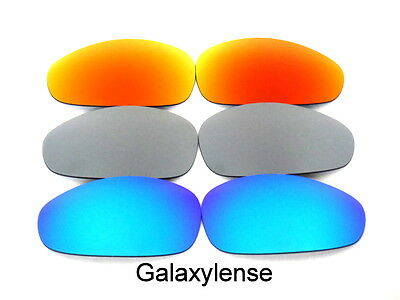 76143496be Galaxy Replacement Lenses For Oakley Juliet Blue Titanium Red Polarized  3Pairs