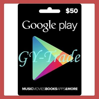 Google Play $50 US Gift Card Karte Code Voucher Certificate USA Android *FAST*