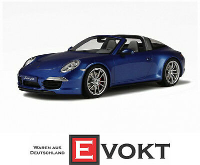 GT Spirit Porsche 911 991 Carrera Targa 4S Model Car 1:18 Blue GT037 Genuine New