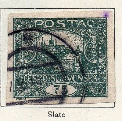 Czechoslovakia 1919 Imperf Early Issue Fine Used 75h.