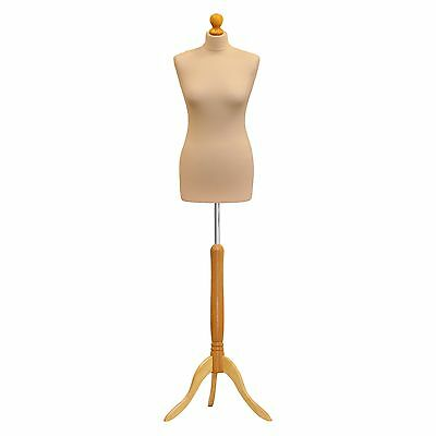 Female Size 8/10 Cream Dress Makers Tailors Dummy Mannequin Display Bust