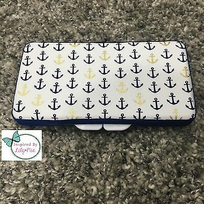 Navy Anchors Baby Wipes Case - Perfect Gift For Baby Shower