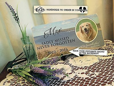 Pet Dog Photo Memorial Plaque Personalised Keepsake -YOUR Picture - YOUR Wording