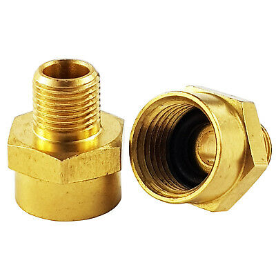 2 x Airbrush Air Hose Adaptor G1/8th BSP Male-G1/4 BSP Female Airbrush Adaptor