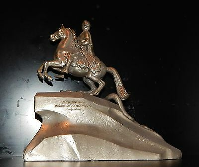 Russian Soviet sculpture metal figurine statue PETER 1 the Great tsar Russia old