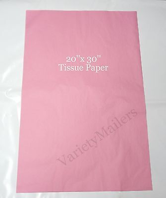"""30 Sheets of Premium Grade Pink Tissue Paper 20""""x 30"""" Matte Finish ~ Made in USA"""