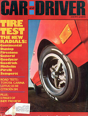 Car and Driver Magazine June 1972 Tire Test The New Radials EX 020816jhe