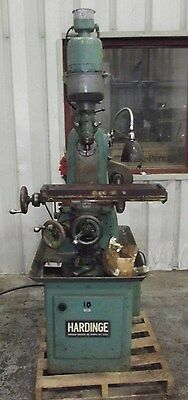 Hardinge Horizontal Mill W/vertical Head Collets, Power Table Feed