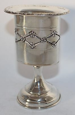Judaica New Solid Sterling Silver 925 Havdalah Candle Holder Heavy ֳ#ju-400