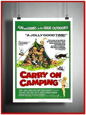 Carry On Camping Vintage Style Giant Poster (RX0707