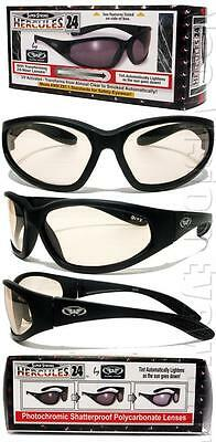 Hercules 24 Transition Photochromic Lens Safety Glasses Sun Clear to Smoke Z87.1