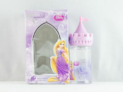 Disney Rapunzel Eau de Toilette 50ml Spray Tin Castle Childrens New Damaged Box