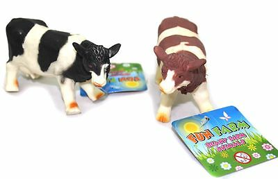 Stretchy Beany Farm Animal Stress Reliever Squishy Toy ~ Cow Colour Vary