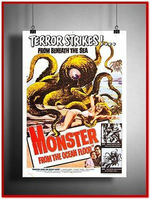 "Monster From The Ocean Floor Vintage Style Giant Poster 24""x16"" [RX2820]"