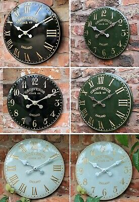 Outdoor indoor Black Garden Wall Clock Hand Painted church clock