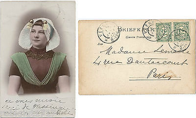 CPA folklore COSTUME tradition coiffe Zeeland PAYS BAS Hollande Holland [792 A]